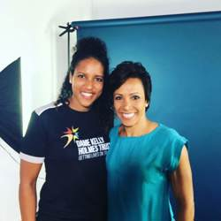 Fontaine Wright with Dame Kelly Holmes