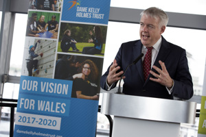 Carwyn Jones speaking at Welsh Assembly